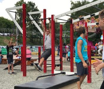atrakce workout hřiště v areálu skalka family park ostrava